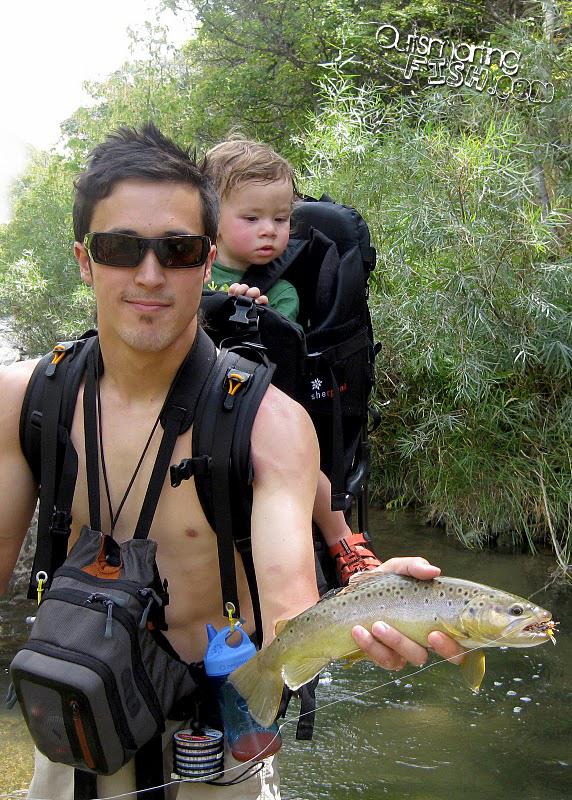 fishing with kid backback