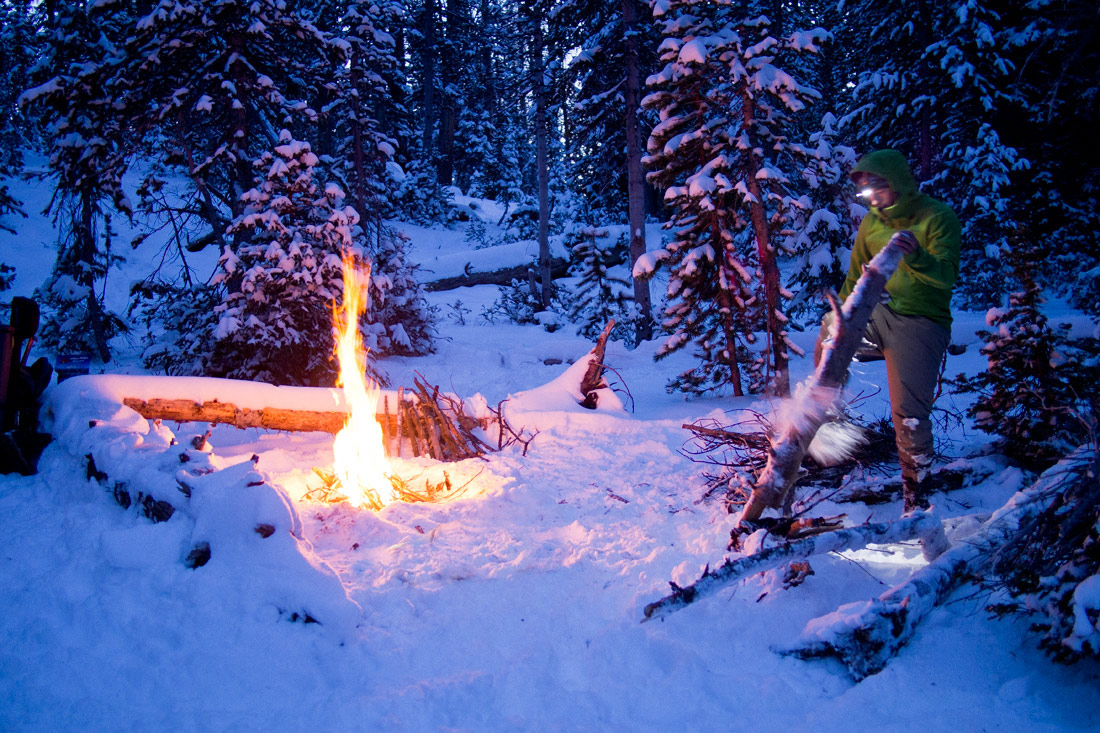 snowy-firewood